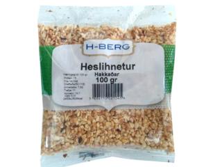 Heslihnetur Hakkaðar